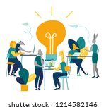 vector illustration of people... | Shutterstock .eps vector #1214582146