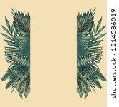 floral botanical border... | Shutterstock .eps vector #1214586019