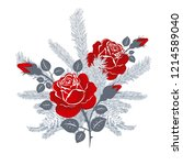 vector composition of roses... | Shutterstock .eps vector #1214589040