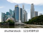 singapore   november 7  morning ... | Shutterstock . vector #121458910
