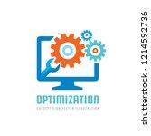 computer repair service vector... | Shutterstock .eps vector #1214592736