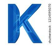 the letter k in a distinctive... | Shutterstock . vector #1214595070