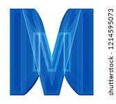 the letter m in a distinctive... | Shutterstock . vector #1214595073