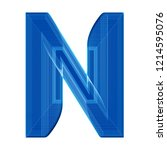 the letter n in a distinctive... | Shutterstock . vector #1214595076