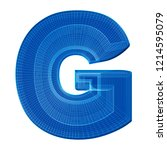 the letter g in a distinctive... | Shutterstock . vector #1214595079