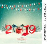 christmas holiday background... | Shutterstock .eps vector #1214595679