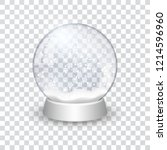 snow globe ball realistic new... | Shutterstock .eps vector #1214596960
