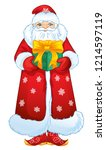 .russian santa claus with a... | Shutterstock .eps vector #1214597119