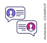 customer live chat color icon.... | Shutterstock .eps vector #1214600119