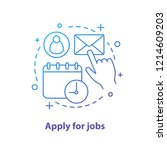 apply for job concept icon.... | Shutterstock .eps vector #1214609203