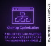 sitemap optimization neon light ...   Shutterstock .eps vector #1214609206