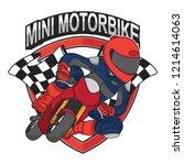 mini motorbike racing design ... | Shutterstock .eps vector #1214614063