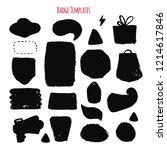 modern dark grunge labels set ... | Shutterstock .eps vector #1214617846