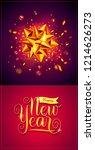 vector happy new year... | Shutterstock .eps vector #1214626273