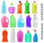 detergent bottle vector cartoon ... | Shutterstock .eps vector #1214631229