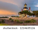 california lighthouse with... | Shutterstock . vector #1214635126