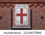 ancient sforza castle in milan... | Shutterstock . vector #1214637886