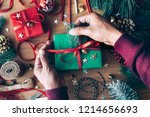 merry christmas concepts with... | Shutterstock . vector #1214656693