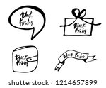 set of black friday texts with... | Shutterstock .eps vector #1214657899