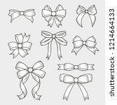 set of hand drawn decorative... | Shutterstock .eps vector #1214664133