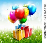 Realistic Colorful Birthday...