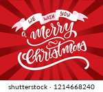hand sketched we wish you a... | Shutterstock .eps vector #1214668240