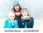 family outdoors.happy family... | Shutterstock . vector #121468030