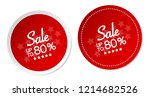 sale up to 80  stickers | Shutterstock .eps vector #1214682526