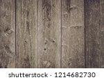 Old Wooden Slats. Wall  A Floo...