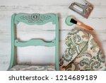 vintage chair makeover   chalk... | Shutterstock . vector #1214689189