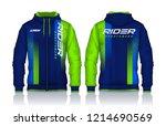 hoodie shirts template.jacket... | Shutterstock .eps vector #1214690569