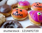 delicious  colorful donuts... | Shutterstock . vector #1214692720