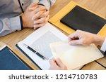 businessman hand sending a... | Shutterstock . vector #1214710783