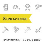 construction equipment icons... | Shutterstock .eps vector #1214711089