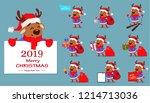 merry christmas. set of ten... | Shutterstock .eps vector #1214713036