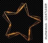 shining golden star. isolated... | Shutterstock .eps vector #1214713309