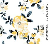 seamless floral pattern.... | Shutterstock .eps vector #1214715349