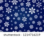 snowflakes background texture...   Shutterstock .eps vector #1214716219
