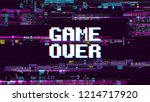 game over fantastic computer... | Shutterstock . vector #1214717920