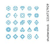 diamond line icons. woman... | Shutterstock . vector #1214717929