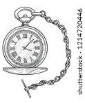 pocket watch illustration ... | Shutterstock .eps vector #1214720446