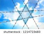 david star at blue sky  ... | Shutterstock .eps vector #1214723683