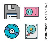 disc icon set. vector set about ... | Shutterstock .eps vector #1214724460