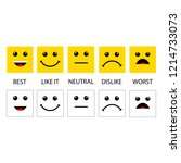 set emotions. excellent  good  ... | Shutterstock .eps vector #1214733073