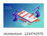landing page template of design ... | Shutterstock .eps vector #1214742970