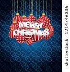 2019 merry christmas seasonal... | Shutterstock .eps vector #1214746336