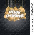 2019 merry christmas seasonal... | Shutterstock .eps vector #1214746360