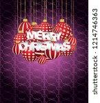 2019 merry christmas seasonal... | Shutterstock .eps vector #1214746363