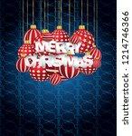 2019 merry christmas seasonal... | Shutterstock .eps vector #1214746366