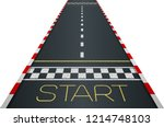 racing asphalt road. start and... | Shutterstock .eps vector #1214748103